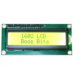 16x2 LCD Display with Soldered Header (Yellow Backlight)