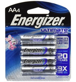 AA Energizer Ultimate Lithium Battery (4pcs)