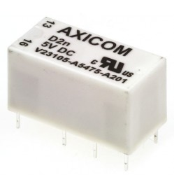 TE Connectivity DPDT PCB Mount Non-Latching Relay, 5V dc Coil