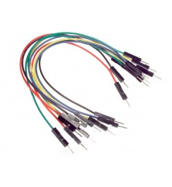 1 Pin Male to Male 10 Color Jumper Wire 200mm