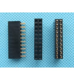 2.54mm 2X10 Pin Double Row Female 10P Straight Header