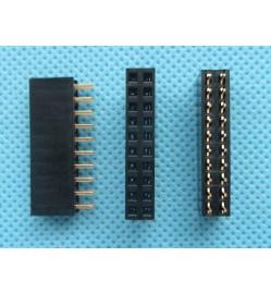 2.54mm 2X10 Pin Double Row Female 10P Straight Header