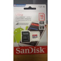 16GB SanDisk Ultra 98MB/s Class 10 UHS-I Micro SD SDHC Memory Card