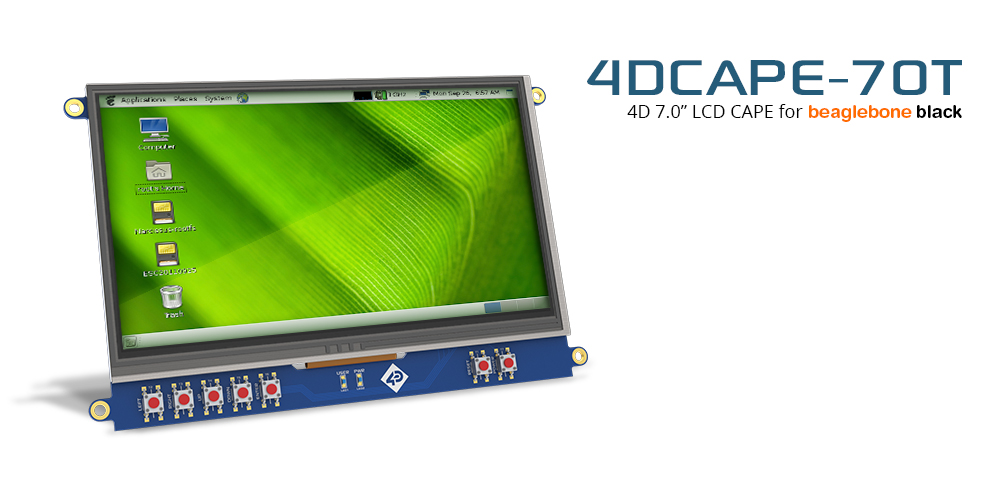 7″ LCD Cape for BeagleBone Black – Touch display
